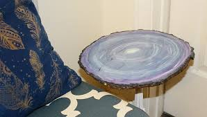 faux agate side table create a faux agate side table thrift store decor upcycle our