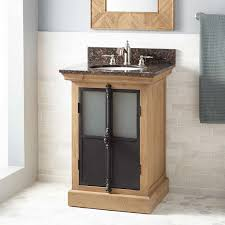 oak freestanding vanity signature hardware