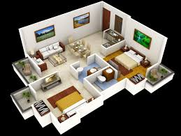 3d Floor Designs by Terrific Simple House Plan With 1 Bedrooms 3d Gallery Best Image