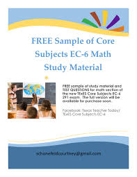 free sample of math study material and test questions for the math