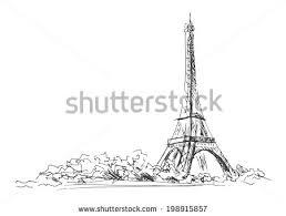 sketch of the paris eiffel tower