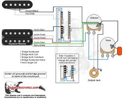 1 humbucker 1 single coil 5 way switch 1 volume 1 tone 01