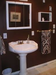 ideas to paint a bathroom brown painted bathrooms home design ideas and pictures