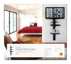 amazon com omnimount tria 3 shelf wall system black home audio
