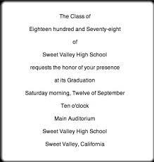 formal high school graduation announcements graduation invitation letter sle kawaiitheo