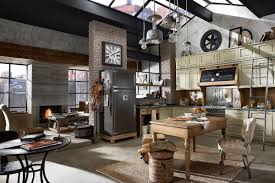 3 Stylish Industrial Inspired Loft Vintage And Industrial Style Kitchens By Marchi Group Adorable Home