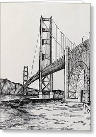 golden gate bridge drawing by carol nistle
