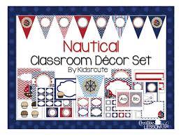 Creative Lesson Cafe Nautical Classroom Decor Set and Labeling