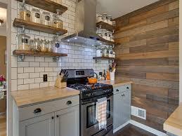 rustic spanish kitchen design wooden island wood dark floor blue