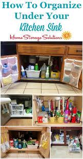 Under Kitchen Sink Cabinet Organization Ideas You Can Use - Sink cabinet kitchen