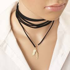 black rope choker necklace images H2 fashion long black rope choker necklace for women exquisite jpg