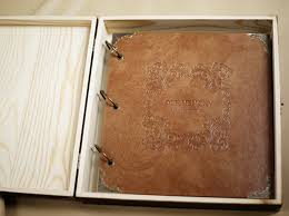 leather photo albums engraved personalized laurel wreath engraved leather photo album
