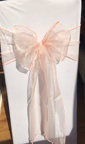 organza sashes white chair cover with blush pink organza sash hire in south