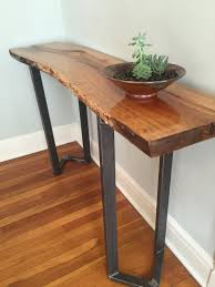 Entry Way Tables by Live Edge Sofa Table Entryway Table Console Table Mid Century