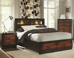 bookcase design rustic full size storage bed with bookcase