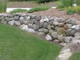 rip rap wall for backyard backyard pinterest lawn backyard