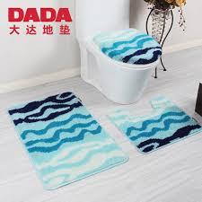Modern Bath Rugs Aliexpress Buy 50 80cm 3pcs Blue Toilet Bath Mat Set Modern