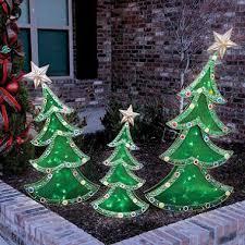 led decorative trees set of 3 sam s decor