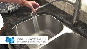 moen power clean kitchen faucets youtube