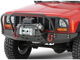 brush guard jeep rock 4x4 8482 bolt on front bumper brush grille guard for