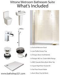 vittone wetroom bathroom suite bathrooms at bathshop321