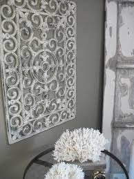 wrought iron wall art white attractive wrought iron wall art