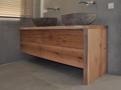 weie badmbel oud eiken badkamermeubel met een bovenblad en zijkant een