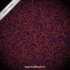 orange ornaments on purple background vector free