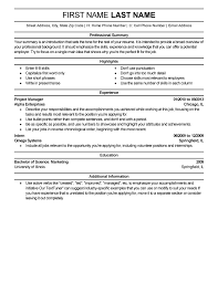 Resume Template For A Professional Resumes Templates Gfyork Com