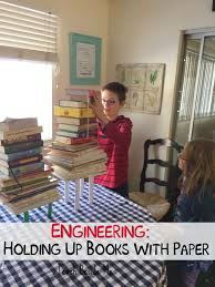 engineering make paper hold up books teach beside me