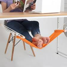 portable mini office foot rest stand desk feet hammock easy to