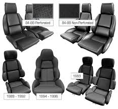 corvette seat covers c4 c4 corvette 1984 1996 driver black leather seat covers pair