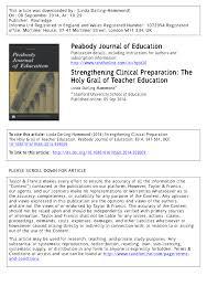 strengthening clinical preparation the holy grail of teacher