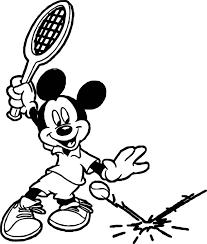 mickey tennis splash tennis ball coloring page wecoloringpage
