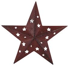 tin star with cutouts red farmhouse christmas ornaments by