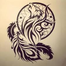 tribal wolf dreamcatcher search ideas