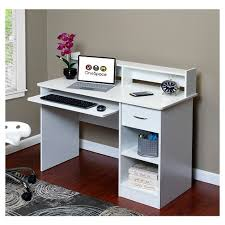 writing desk with hutch onespace 50 ld0101 essential computer desk hutch pull out keyboard