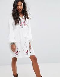 boo hoo boohoo boohoo embroidered smock dress