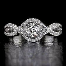 infinity engagement rings vintage f g vs1 european cut 2 3ct halo infinity