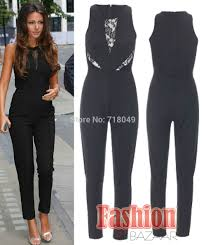 pant jumpsuit arrival sleeveless jumpsuit inspired lace trim