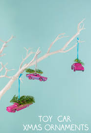 upcycled toy car christmas ornaments christmas car christmas