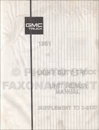 1991 gmc sierra pickup repair shop manual original