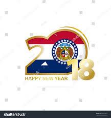 Misouri Flag Year 2018 Missouri Flag Pattern Happy Stock Vector 738193315