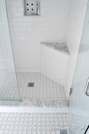 Schluter Corner Bench Bathroom Makeover Reveal Color Tile Marbles And Ivory