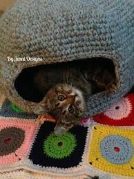 knitting pattern cat cave free crochet pattern marley s cat cave or bed by jenni designs
