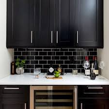 white kitchen cabinets with black subway tile backsplash x 39 s black subway tile backsplash white g