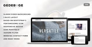 gedebvge responsive one page portfolio template by ridianur