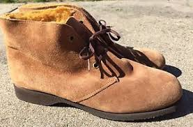 womens desert boots size 9 nos vintage usa s hush puppies brown suede desert boots size