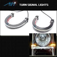amber led turn signals light for fork fit triumph bonneville se