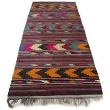Flat Woven Runner Rugs Moroccan Kilim Boucherouite Rug 4 U00279